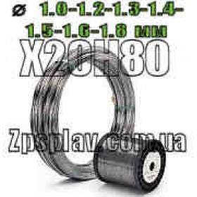 Нихромовая проволока Х20Н80 диаметром 1 мм