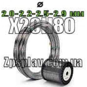 Нихромовая проволока Х20Н80 диаметром 2,0 мм